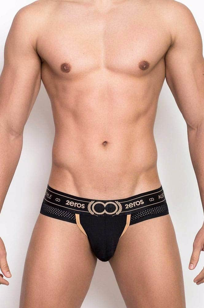 Male model wearing 2EROS Apollo Jockstrap