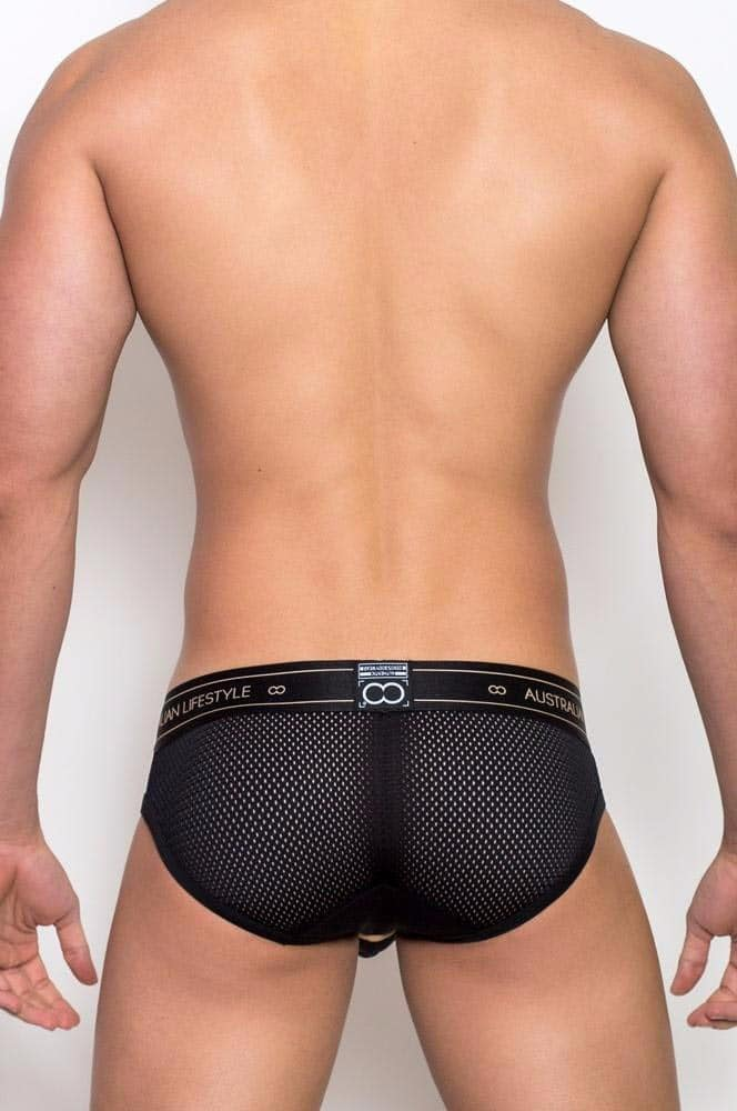 Male model wearing 2EROS Apollo Brief