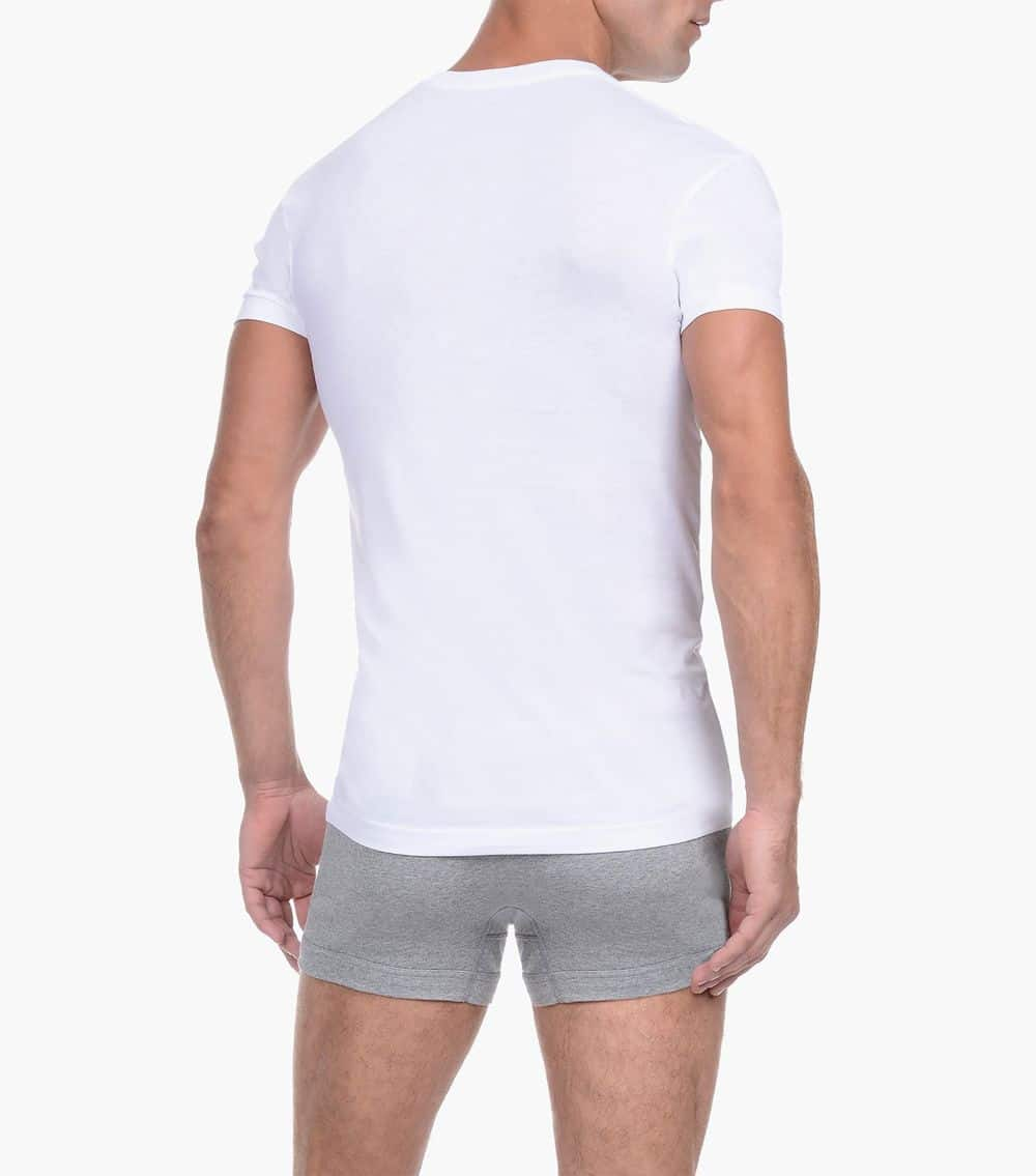 Men's tank tops - 2XIST Underwear Pima Cotton Slim Fit Deep V-Neck T-Shirt available at MensUnderwear.io - Image 1