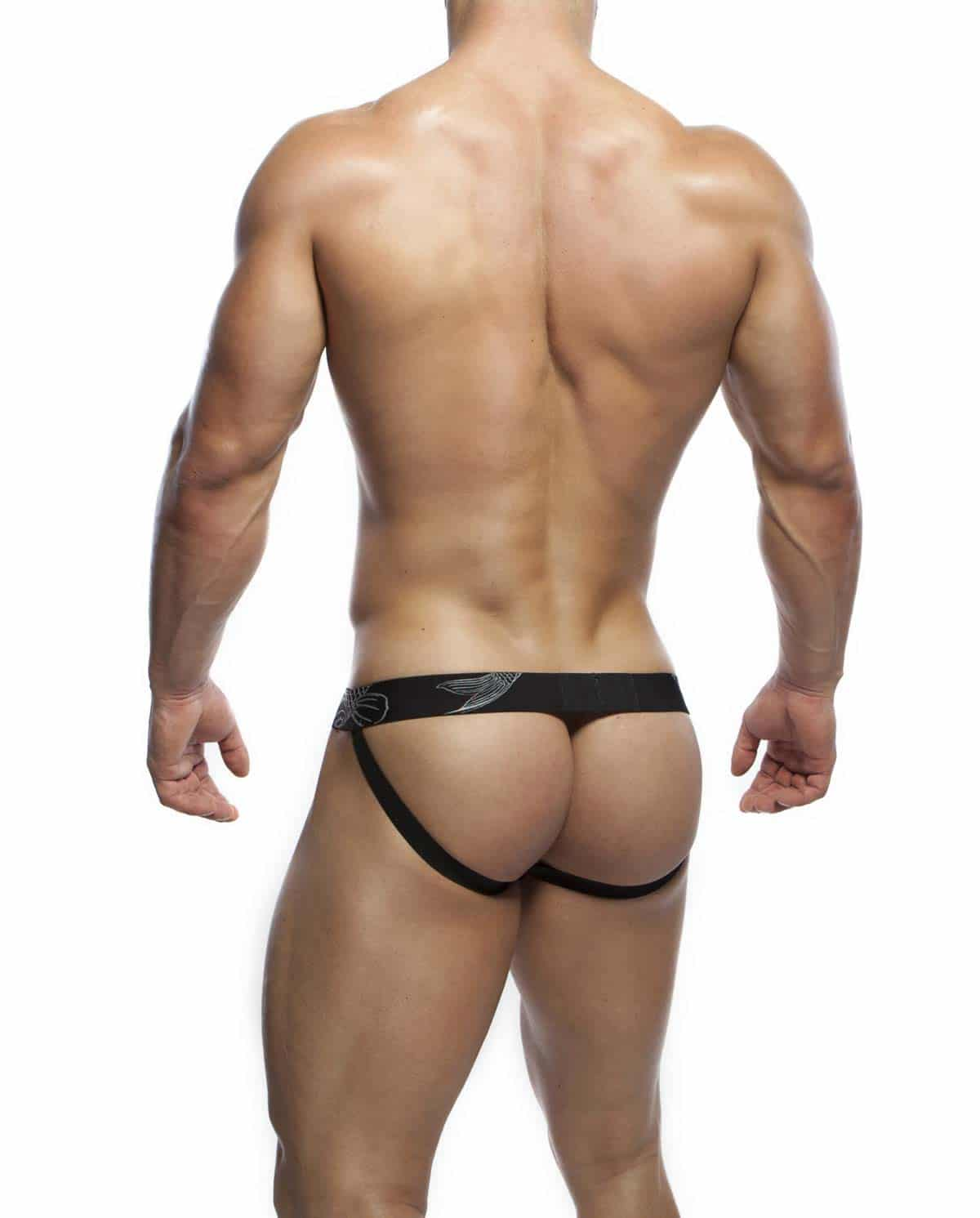 Male underwear model wearing Alexander Cobb Envy Jockstrap - Front View