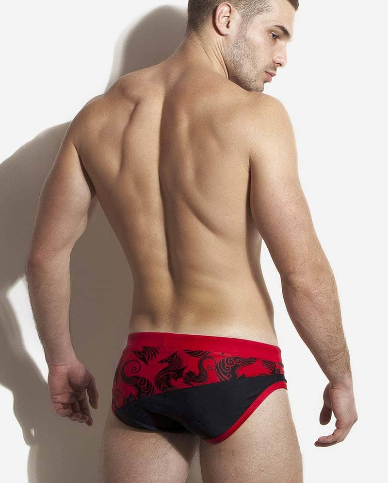 Male model wearing Alexander COBB Ross Sea Swim Brief