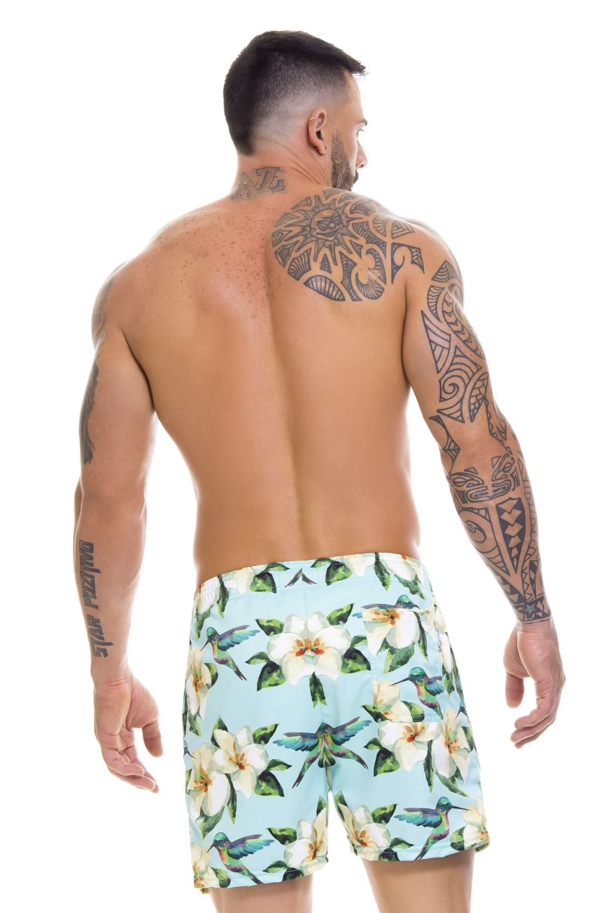 Male underwear model wearing Arrecife 0670 Bali Swim Trunks available at www.MensUnderwear.io
