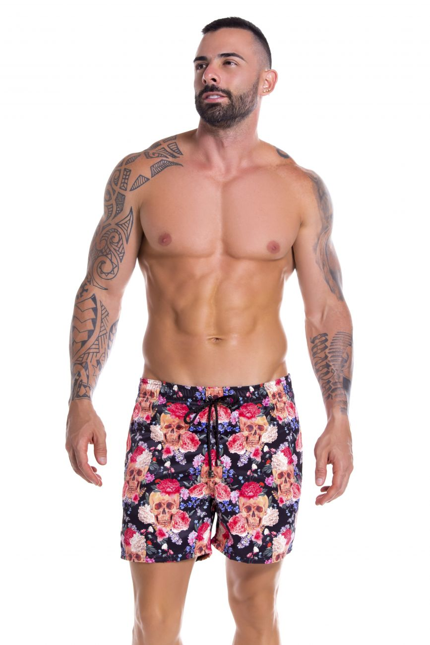 Male underwear model wearing Arrecife 0905 Tabasco Swim Trunks available at www.MensUnderwear.io
