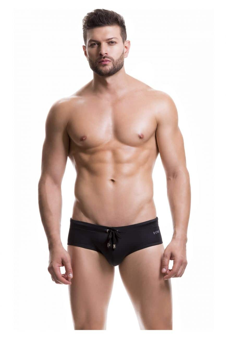 Male underwear model wearing B-One 0007-2 Swim Briefs Classic available at www.MensUnderwear.io