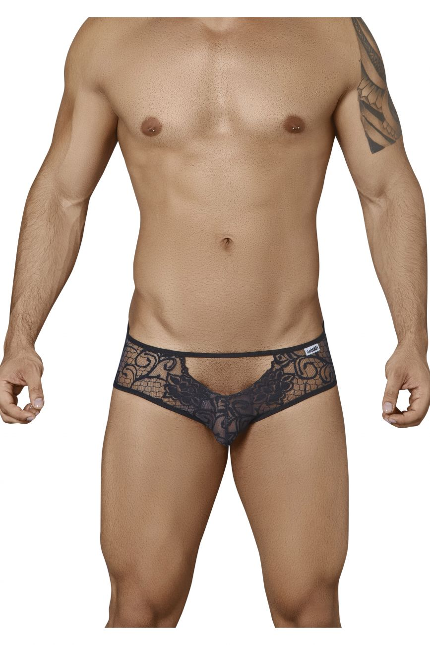 Male underwear model wearing CandyMan 99325 Lace Briefs available at www.MensUnderwear.io
