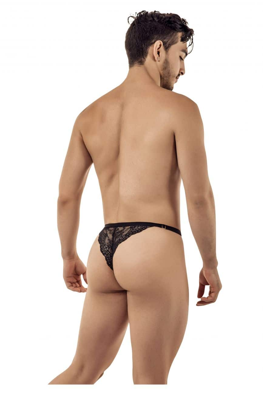 Male underwear model wearing CandyMan 99422 Lace Thongs available at www.MensUnderwear.io