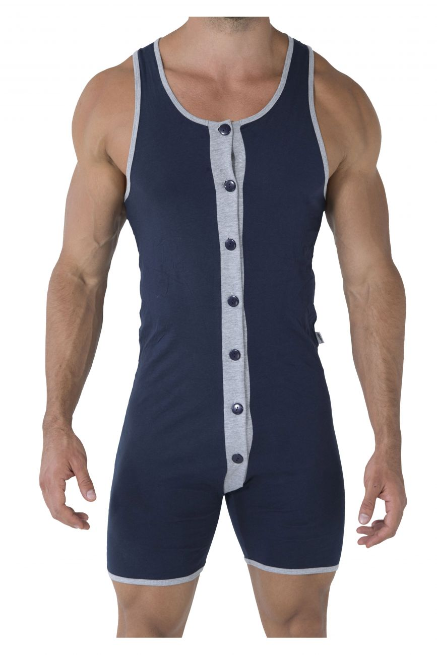 CandyMan Men's Button Bodysuit - available at MensUnderwear.io - 1