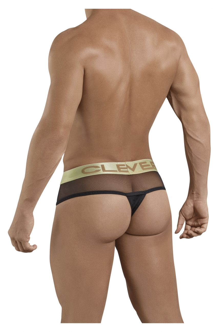 Male underwear model wearing Clever 1201 Supreme Jumbo Thongs available at www.MensUnderwear.io