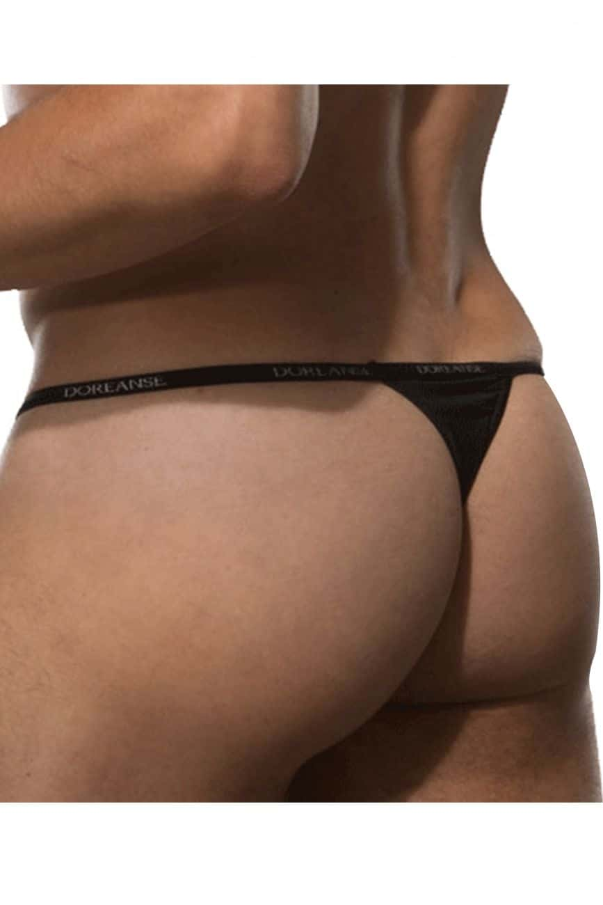 Male underwear model wearing Doreanse 1390-BLK Aire Thong available at MensUnderwear.io.