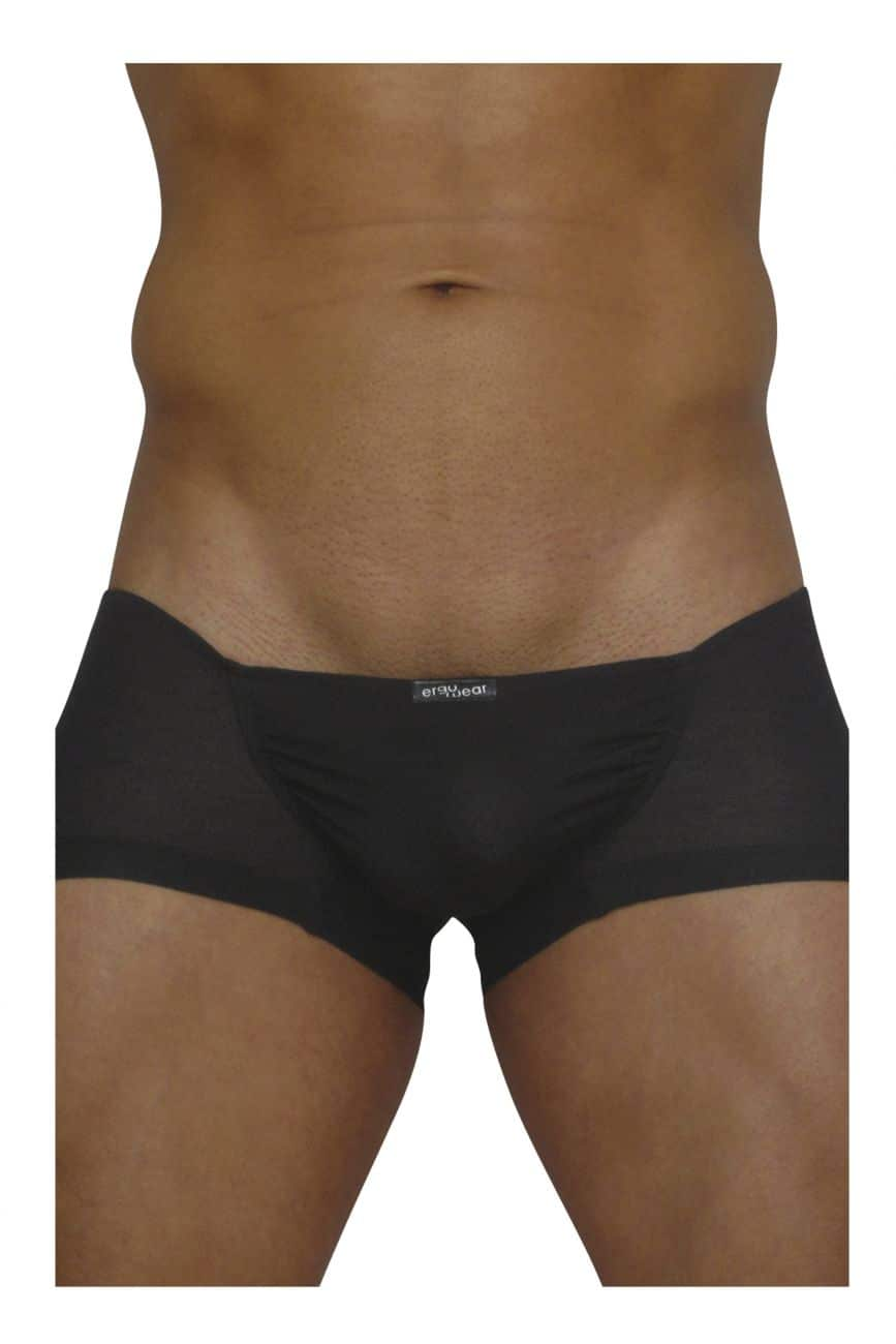 Male underwear model wearing ErgoWear EW0705 FEEL Modal Mini Boxer available at www.MensUnderwear.io
