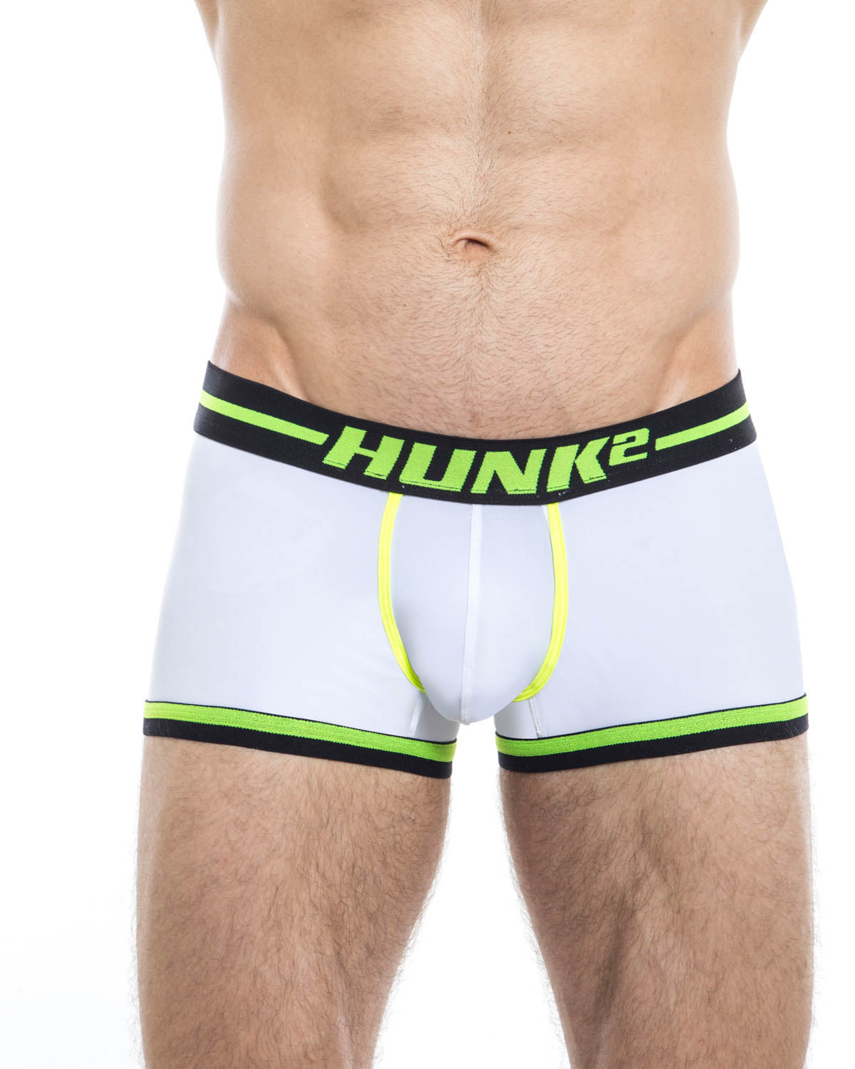 Men's trunk underwear - HUNK2 Underwear Alphae Neon Trunks available at MensUnderwear.io - Image 1