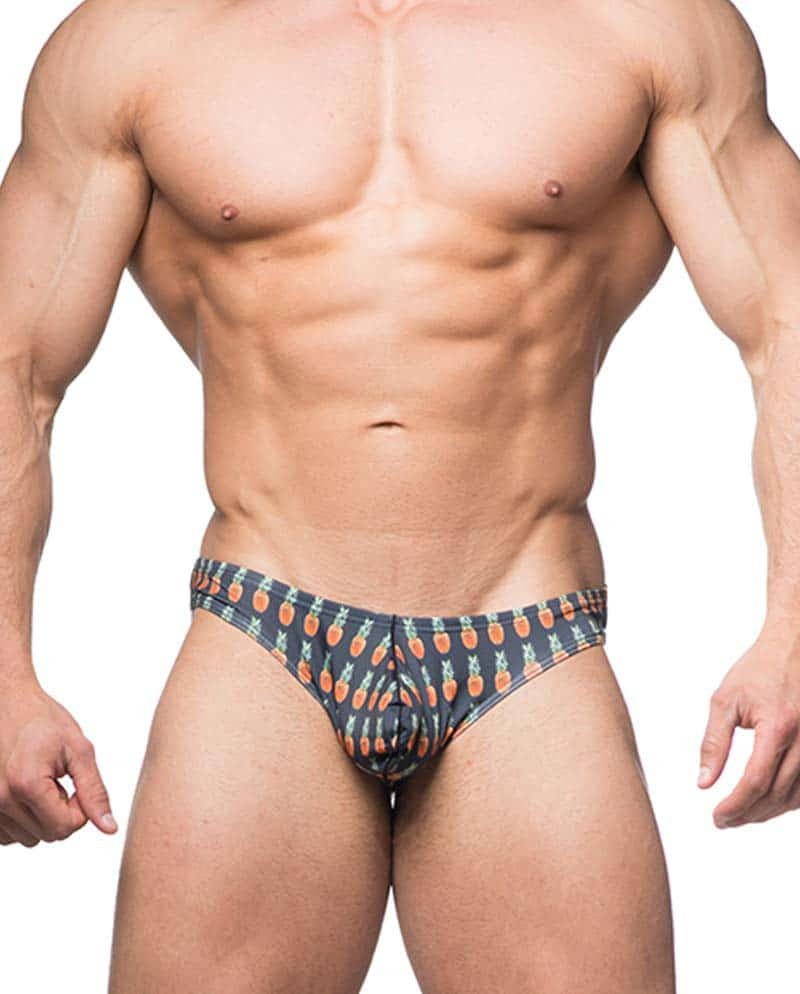 Male model wearing JJ Malibu Bulge Brief Underwear