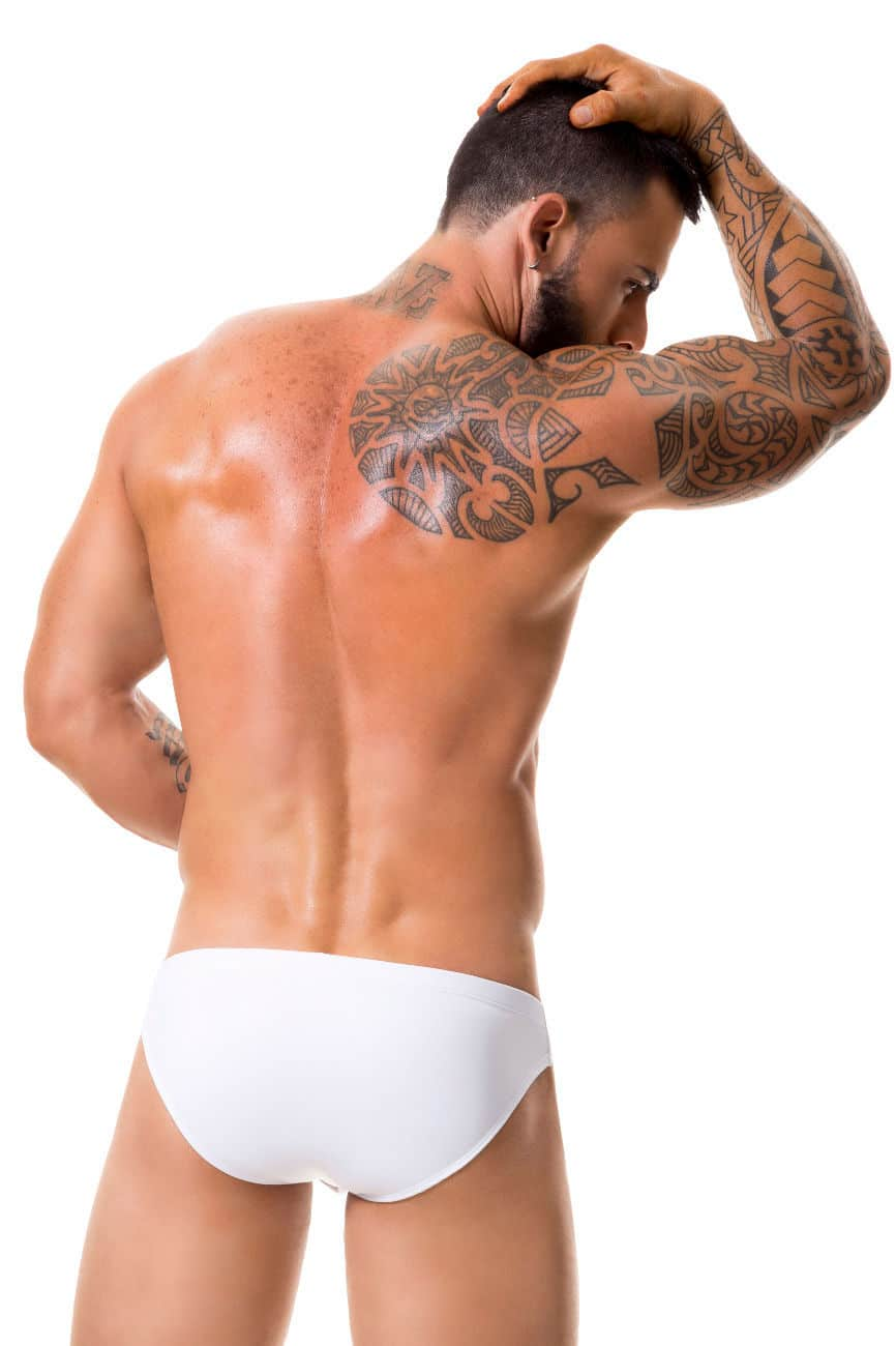 Male underwear model wearing JOR 0353 Sunny Swim Briefs available at www.MensUnderwear.io