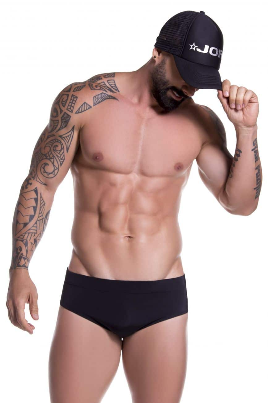 Male underwear model wearing JOR 0762 Sunga Swim Briefs available at www.MensUnderwear.io