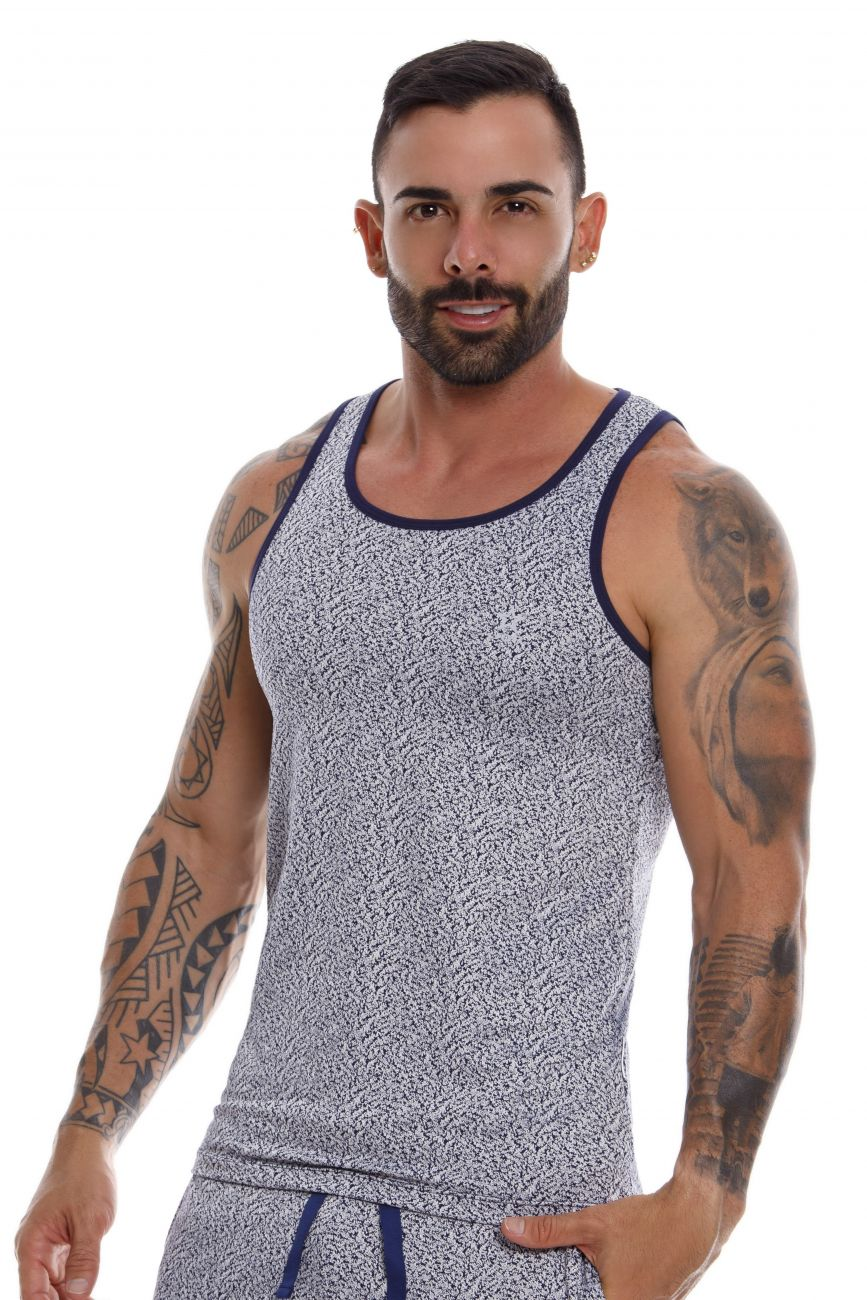 Male underwear model wearing JOR 0948 Soul Tank Top available at www.MensUnderwear.io