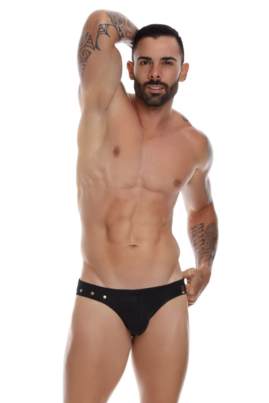 Male underwear model wearing JOR 1023 Caribe Swim Thongs available at www.MensUnderwear.io