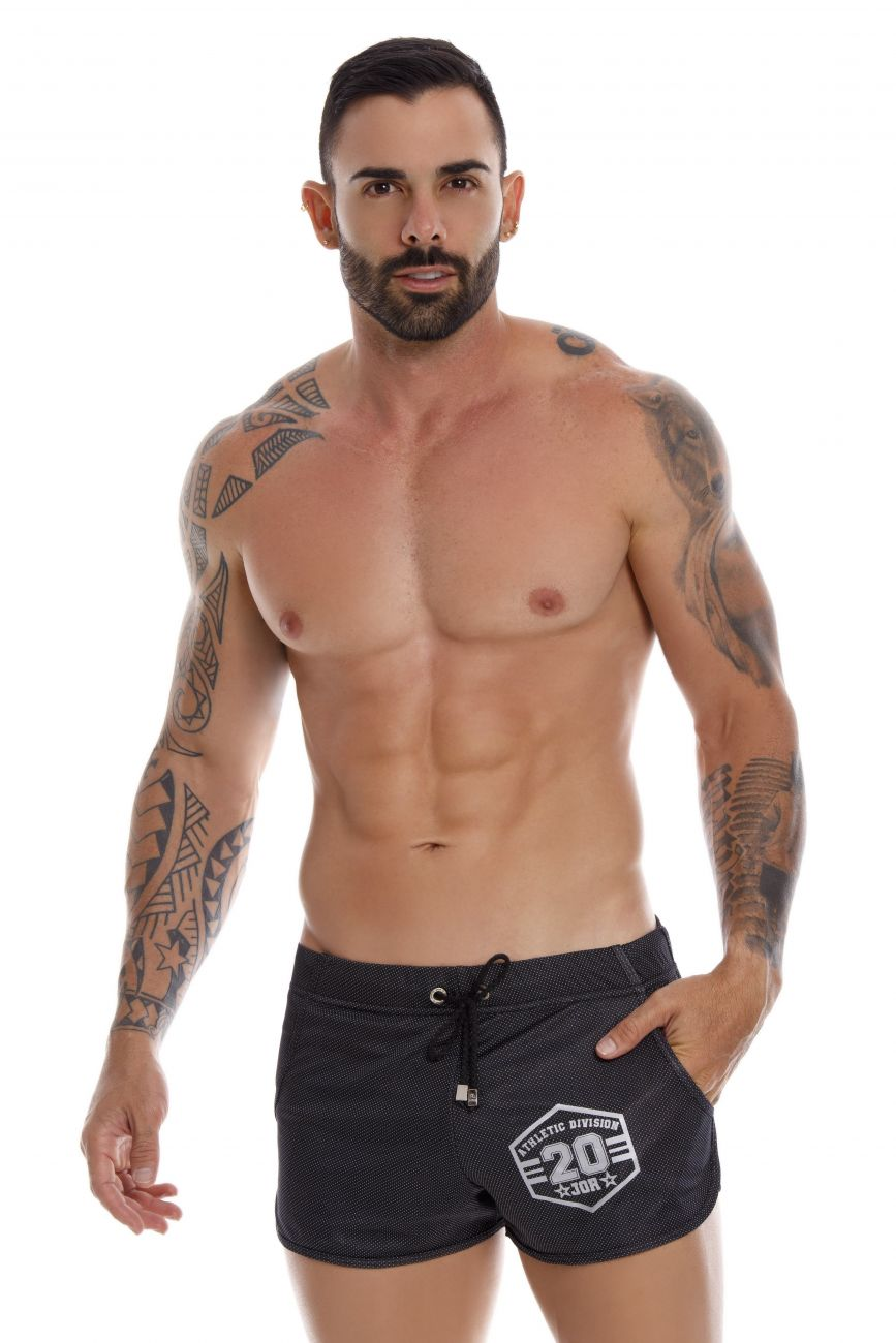Male underwear model wearing JOR 1065 Training Athletic Shorts available at www.MensUnderwear.io