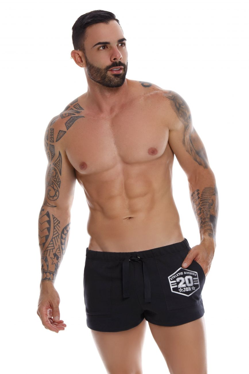 Male underwear model wearing JOR 1070 Enzo Athletic Shorts available at www.MensUnderwear.io