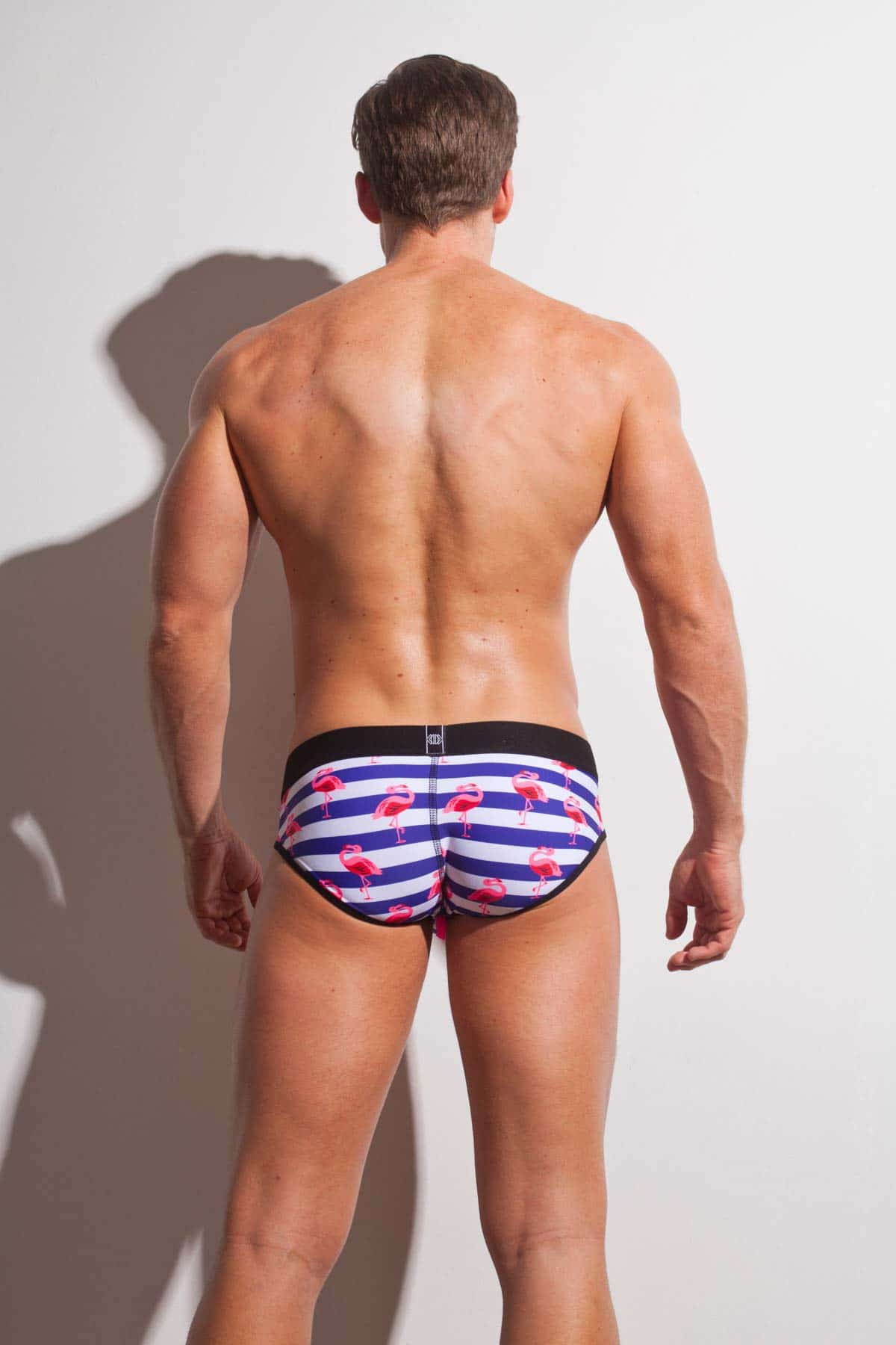 Male underwear model wearing Marco Marco Nautical Brief available at www.MensUnderwear.io
