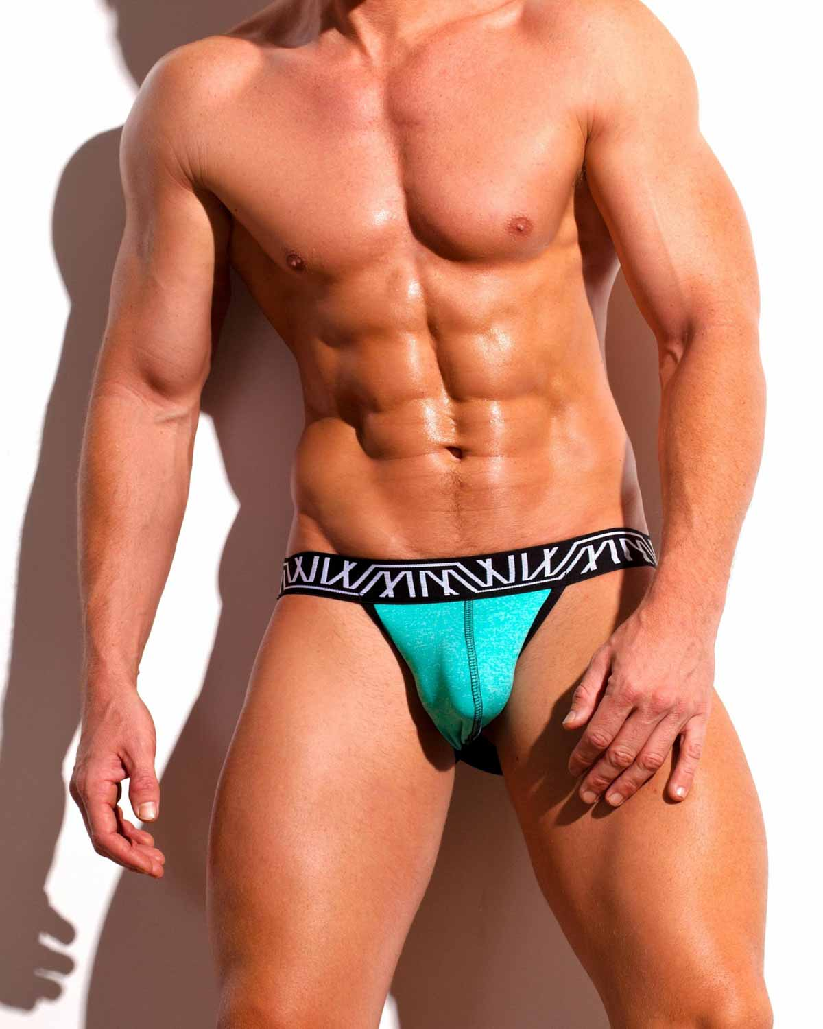 Male underwear model wearing Marco Marco Men's Underwear Jockstrap available at MensUnderwear.io