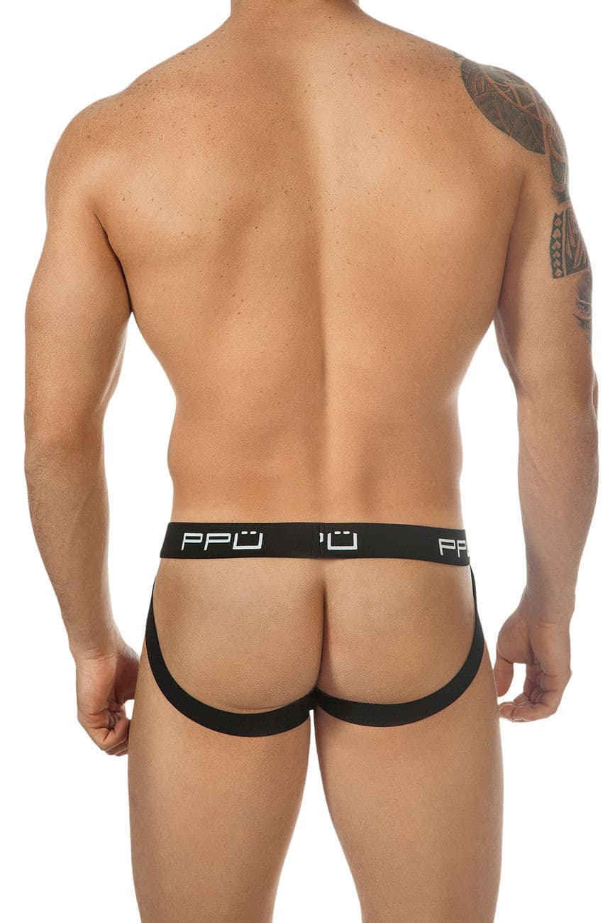 Male underwear model wearing PPU 1308 Cotton Jockstrap. available at www.MensUnderwear.io