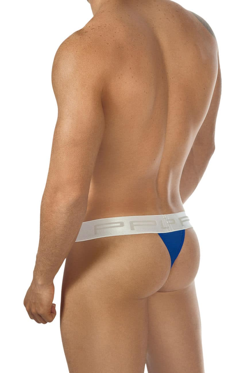 Male underwear model wearing PPU 1312 Tuxedo Thong. available at www.MensUnderwear.io