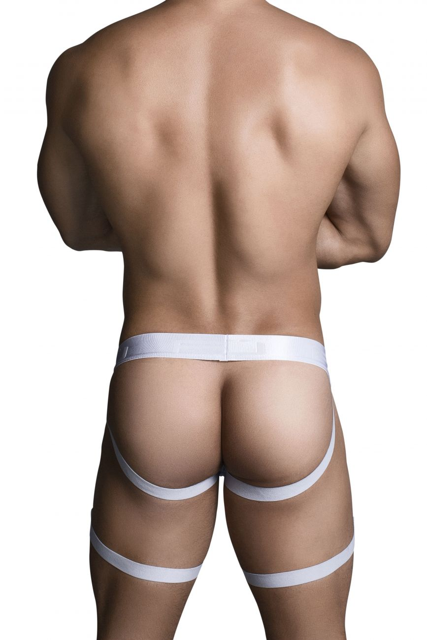Male underwear model wearing PPU 1702 Jockstrap available at www.MensUnderwear.io