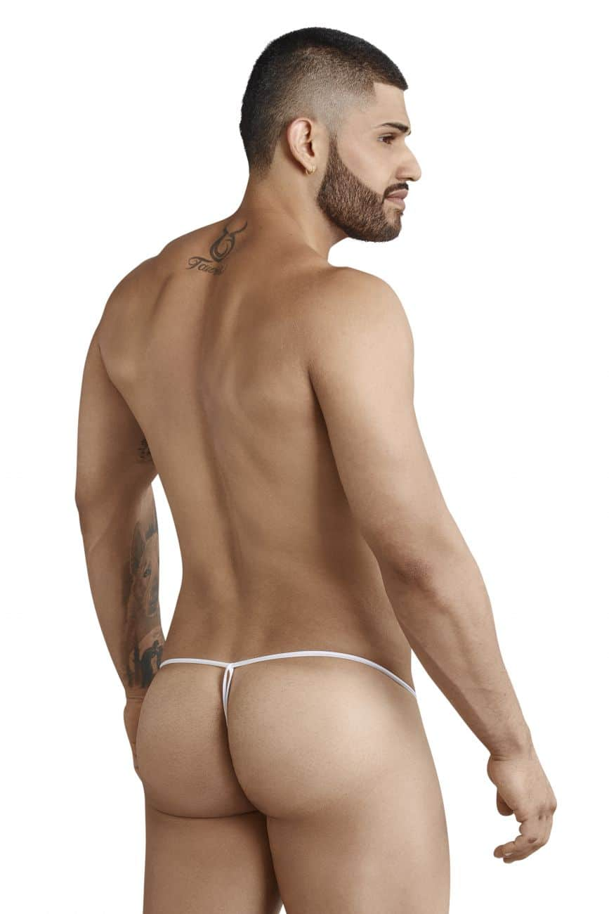 Male underwear model wearing Pikante 8048 Present Thongs available at www.MensUnderwear.io
