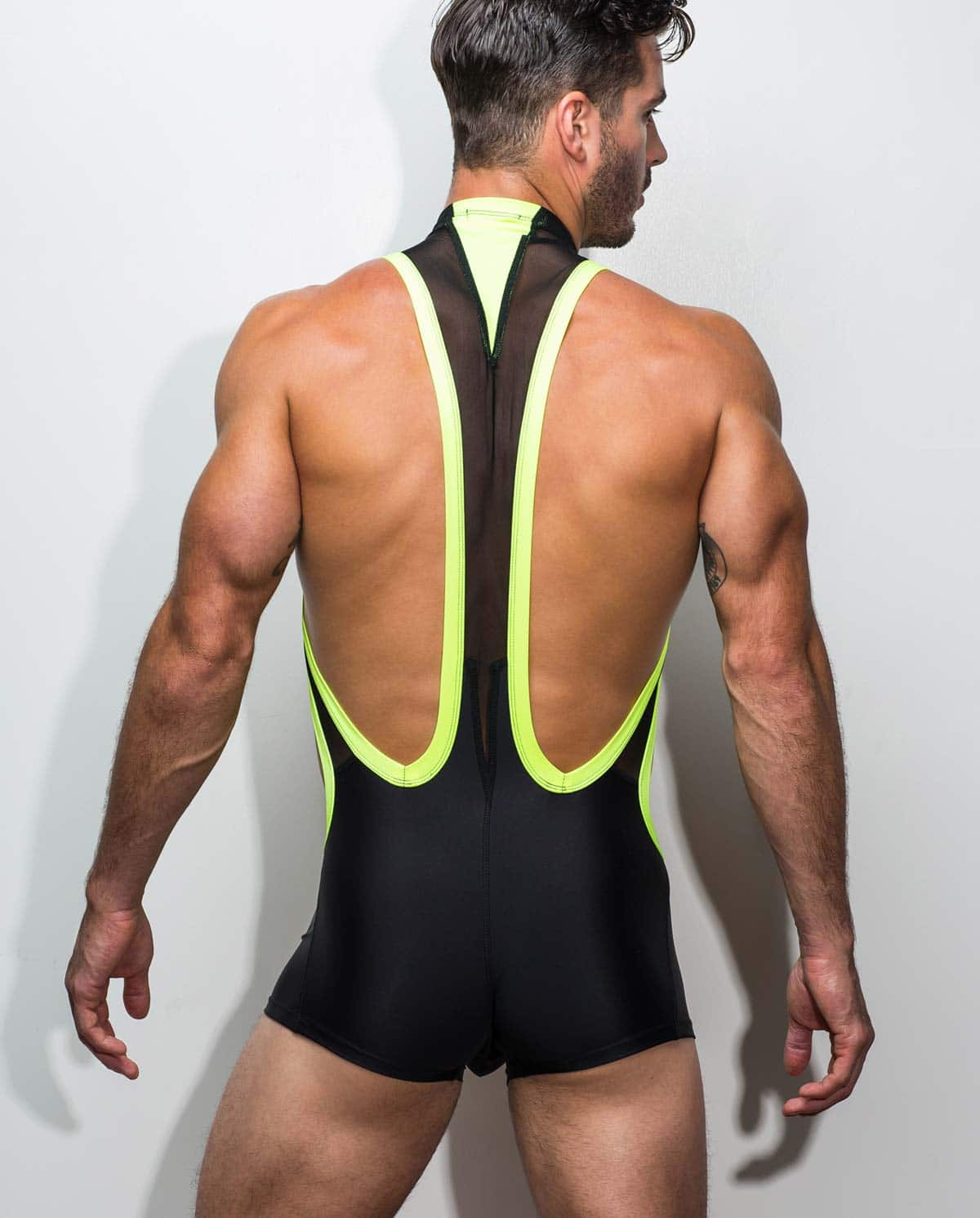 Male underwear model wearing Marco Marco Men's Trunk Singlet - Front