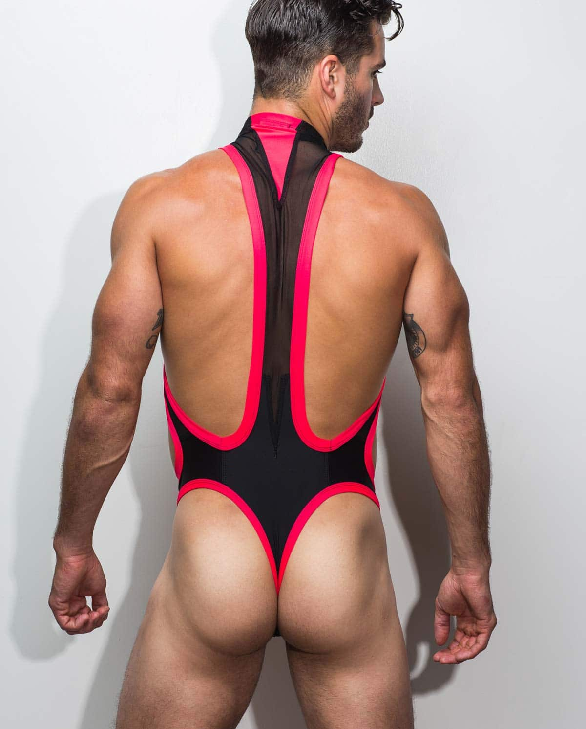 Male underwear model wearing Marco Marco Men's Thong Singlet - Front