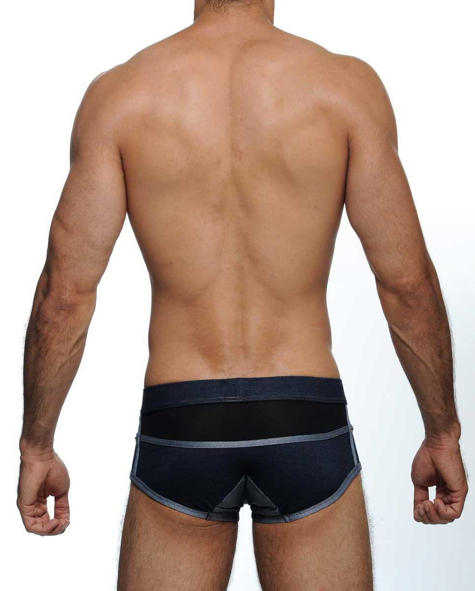 Male model wearing STUD Underwear Ferado Trunks available at MensUnderwear.io