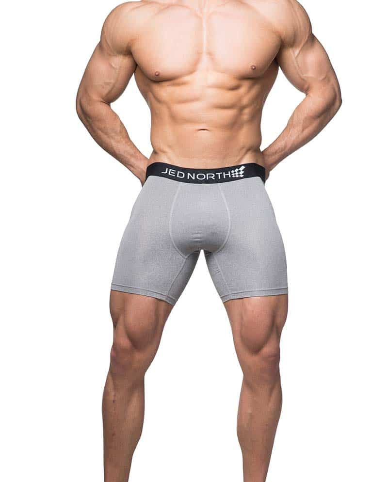Male underwear model wearing Jed North Brooklyn Boxer Briefs for Men
