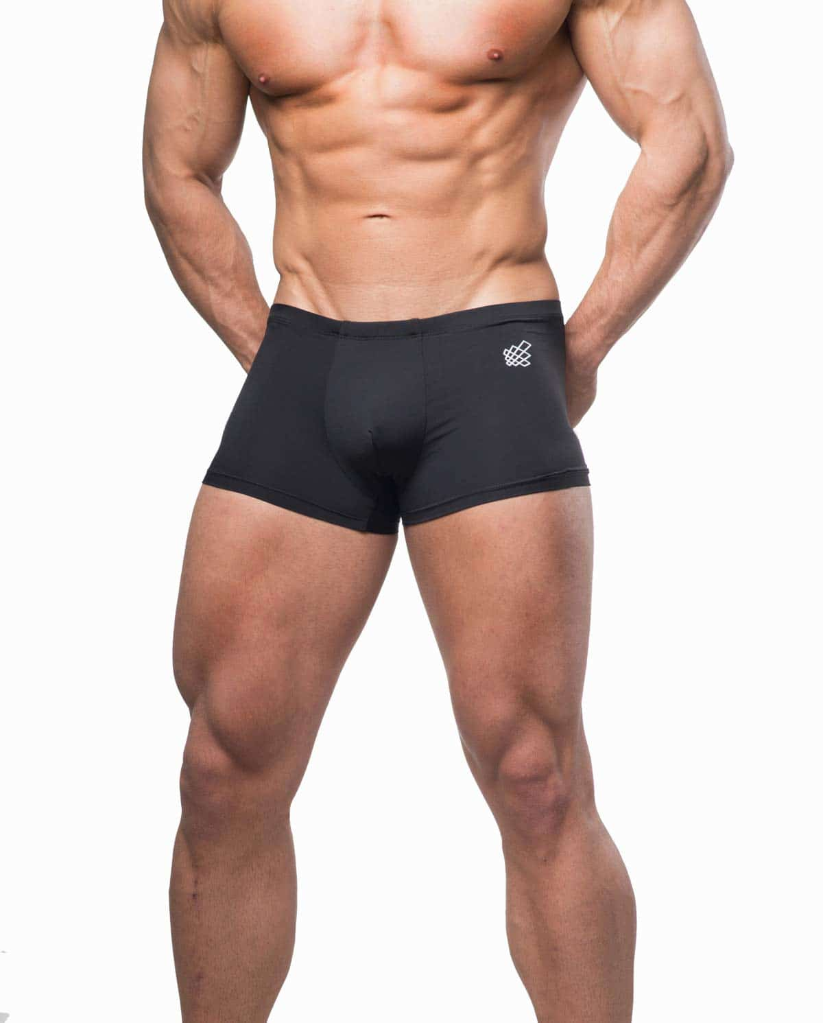 Male underwear model wearing Jed North Align Mens Boxer Brief