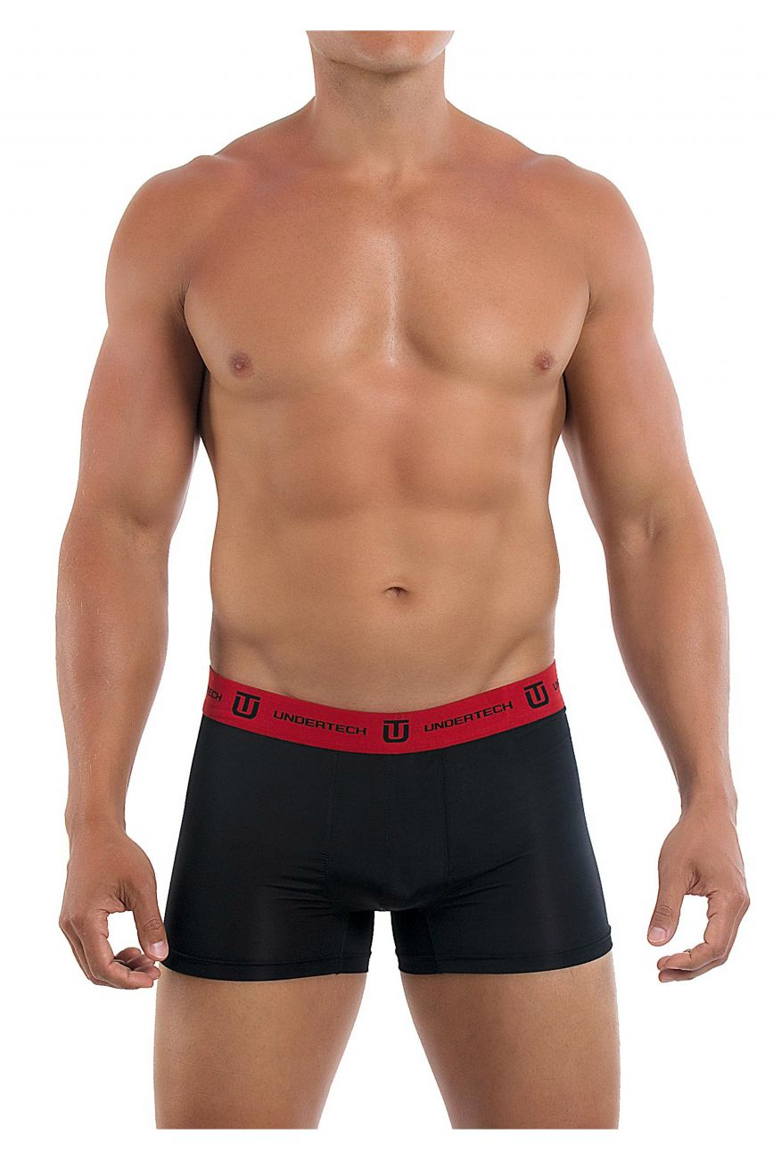 Male underwear model wearing Undertech Underwear 2PK Knit Trunks available at MensUnderwear.io.