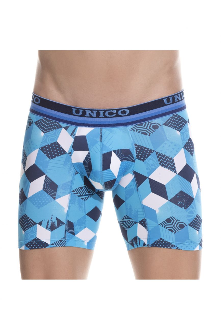 Male underwear model wearing Unico 1802010023348 Boxer Briefs Maker available at www.MensUnderwear.io