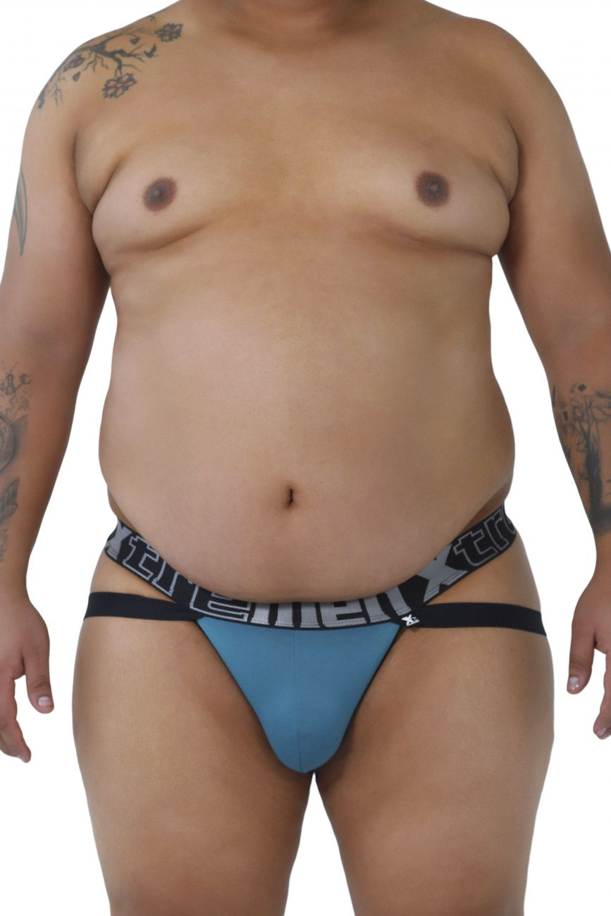 Jockstrap underwear - Xtremen 91054X Double Strap Jockstrap - Plus Size available at MensUnderwear.io - Image 2