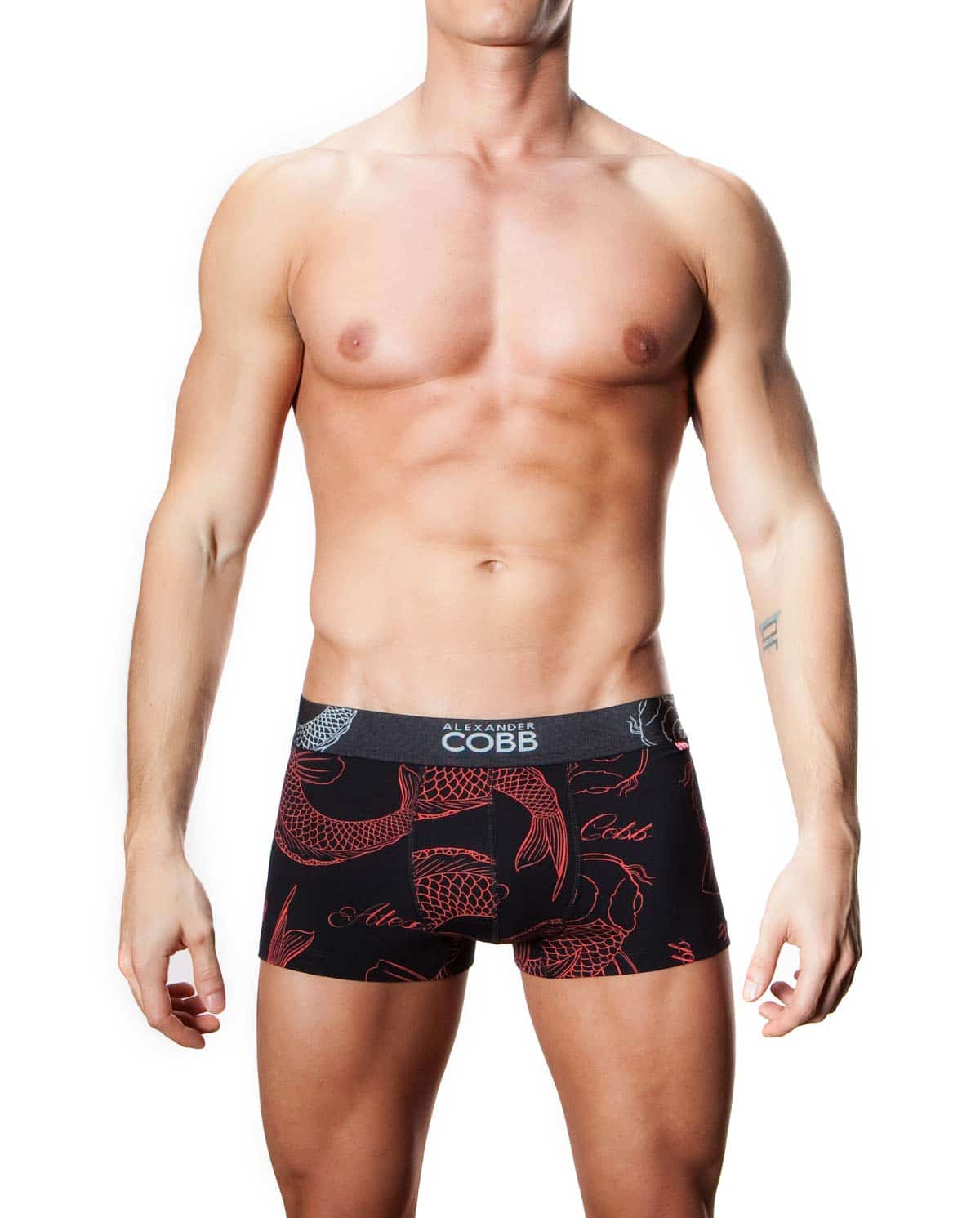 Male model wearing Alexander COBB Koi Men's Boxer Brief