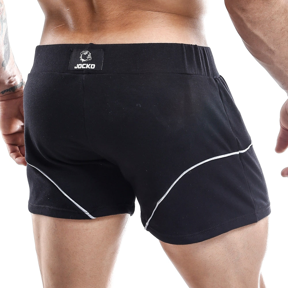 Male model wearing Jocko Short Black. Shop now at www.MensUnderwear.io.