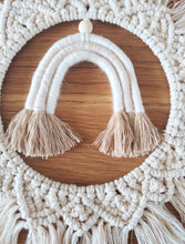 Load image into Gallery viewer, Cream macrame wreath rainbow