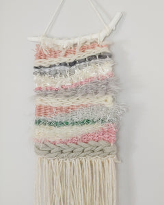 Small Pink, Green and Grey Weaving