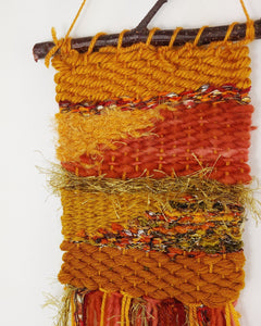 Small Aztec Orange Weaving