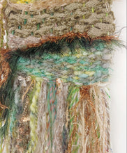 Load image into Gallery viewer, Small moss green weaving