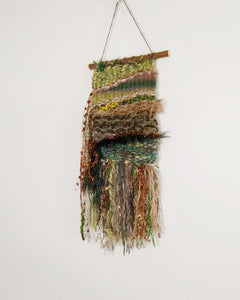 Small moss green weaving