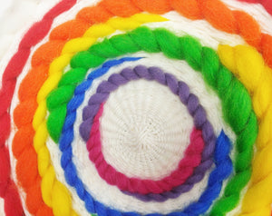 Abstract Rainbow Circle Weave