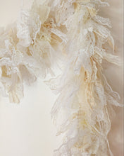 Load image into Gallery viewer, 2 Metre White Cream Lace Tufty Garland