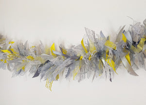 3 metre Yellow and Grey Tufty Garland