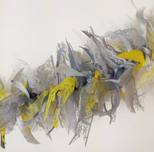 Load image into Gallery viewer, 3 metre Yellow and Grey Tufty Garland
