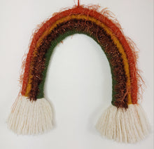 Load image into Gallery viewer, Large Autumn Macrame Rainbow