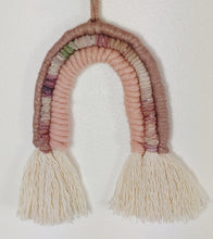 Load image into Gallery viewer, Small Rose Gold Macrame Rainbow