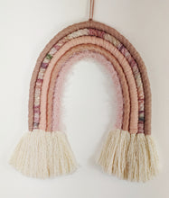Load image into Gallery viewer, Large Rose Gold Macrame Rainbow